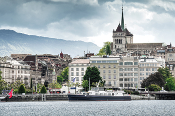 Cityscape of Geneva, Switzerland