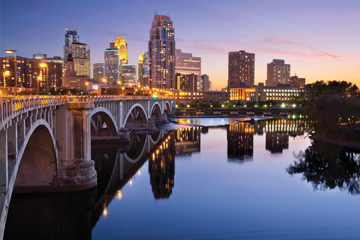 Cityscape of Minneapolis, Minnesota