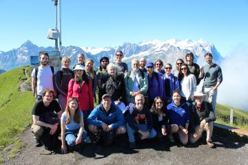Group excursion to Käserstatt in the Swiss alps